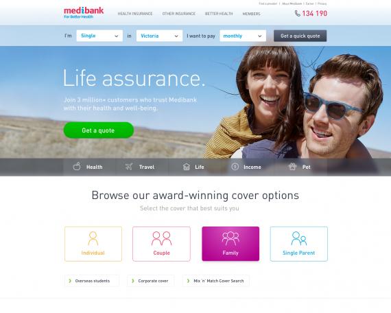 Medibank Homepage Redesign